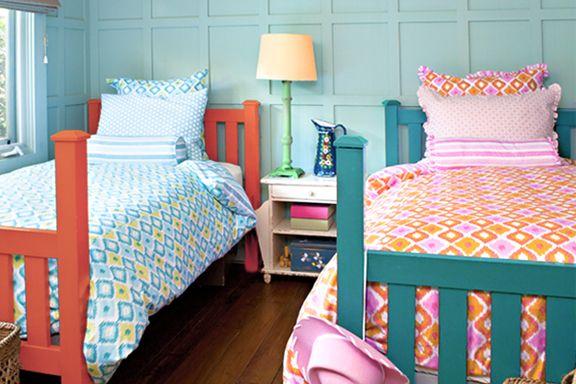 design ideas for shared kids rooms - | boy girl bedroom, big beds