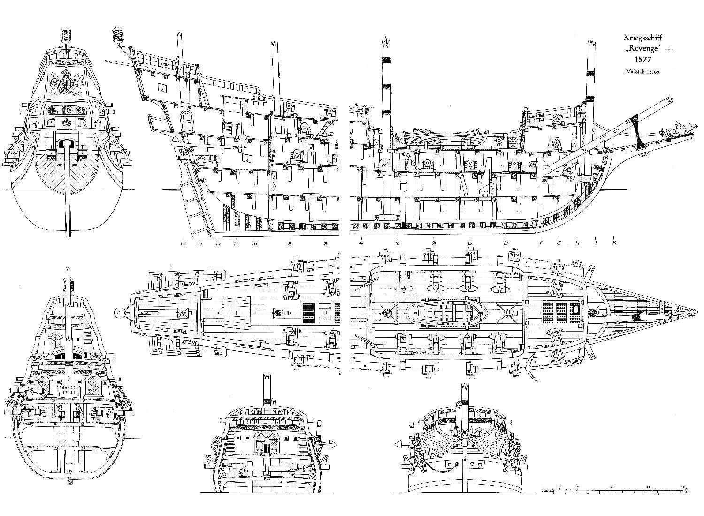 Wood Ship Blueprints
