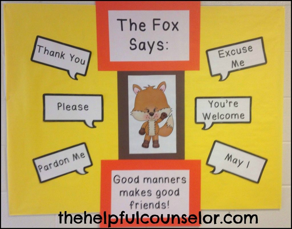 Manners Matter What Does The Fox Say Coloring Page Freebie And Activity Pack