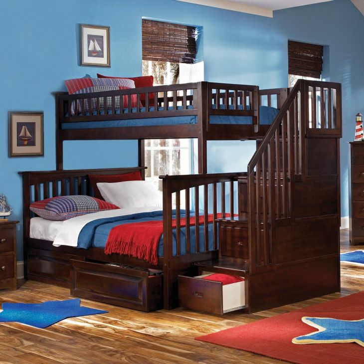 How cool a bunk bed with stairs that have drawers in them too