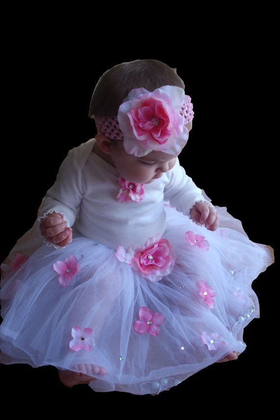 Baby Girl 1st Birthday Outfit Birthday Tutu And Headband