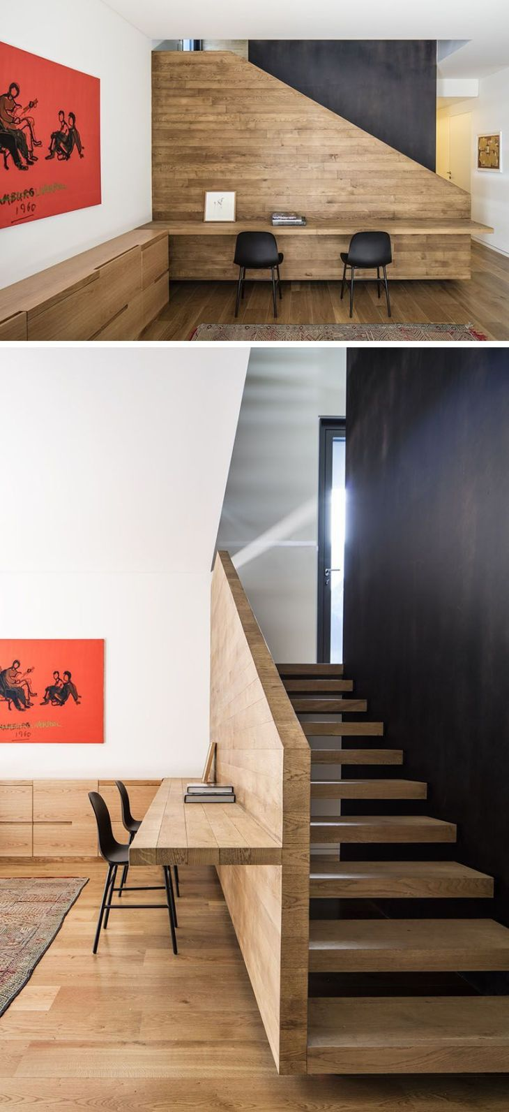 Interior Design Ideas  Build A Desk On An Unused Wall Space To