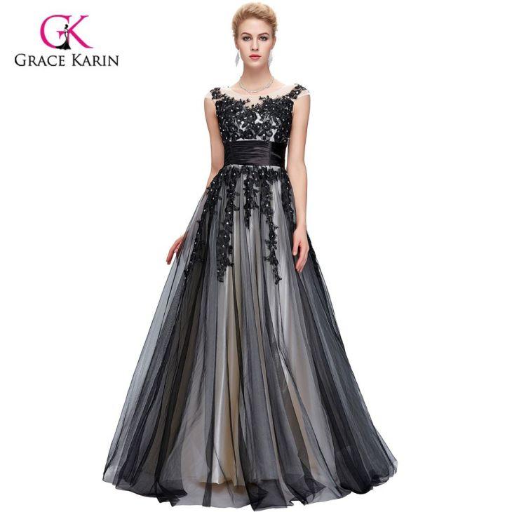Long Evening Dress Grace Karin Cap Sleeve Tulle New Arrival