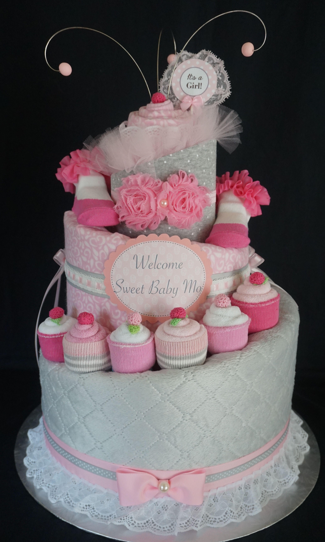 Cupcake Diaper Cake Facebook Diapercakesbydiana