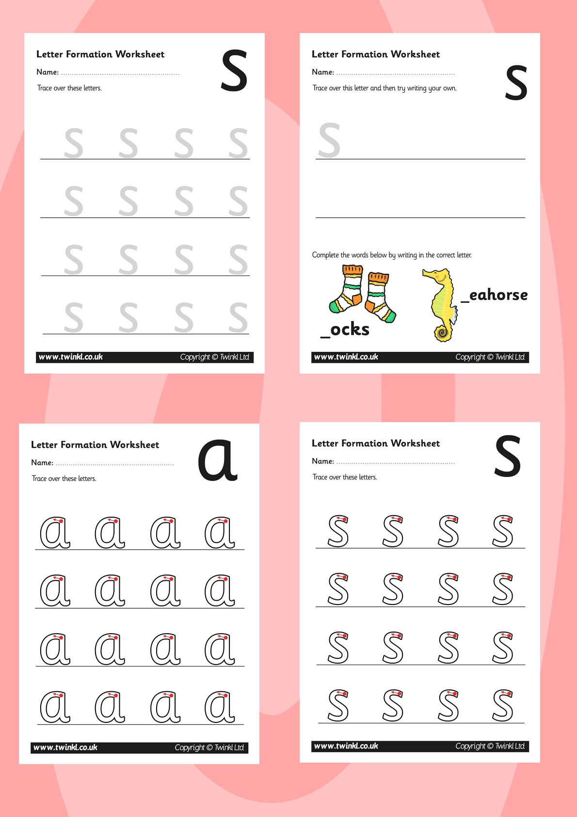 Twinkl Resources Gt Gt Phase 2 Letter Formation Worksheets