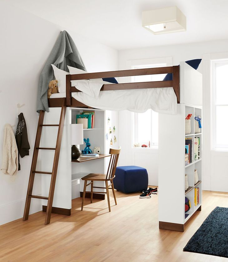 Moda Loft Beds with Desk and Bookcase Options  Kids rooms Lofts