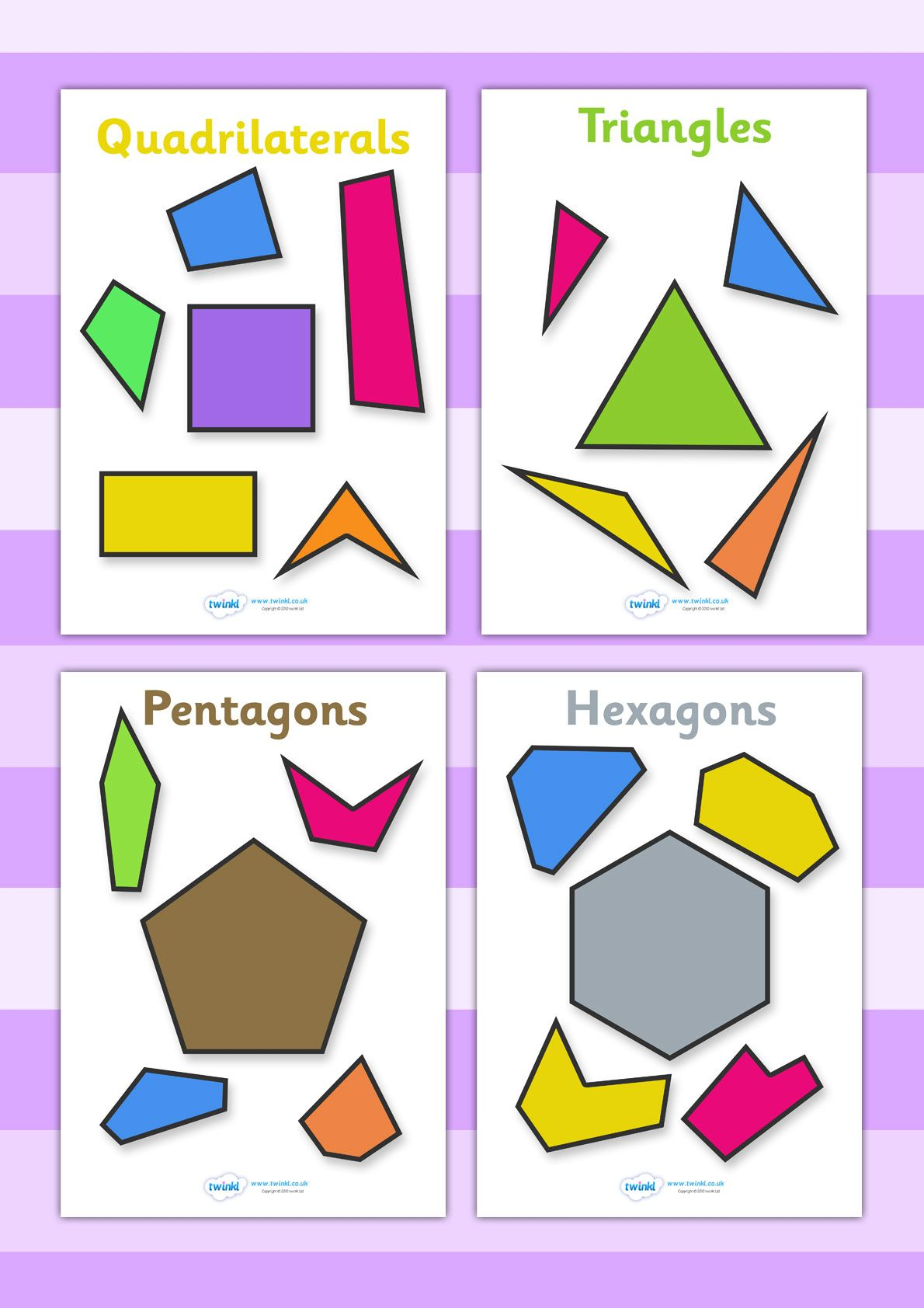 Twinkl Resources Gt Gt 2d Regular And Irregular Shapes