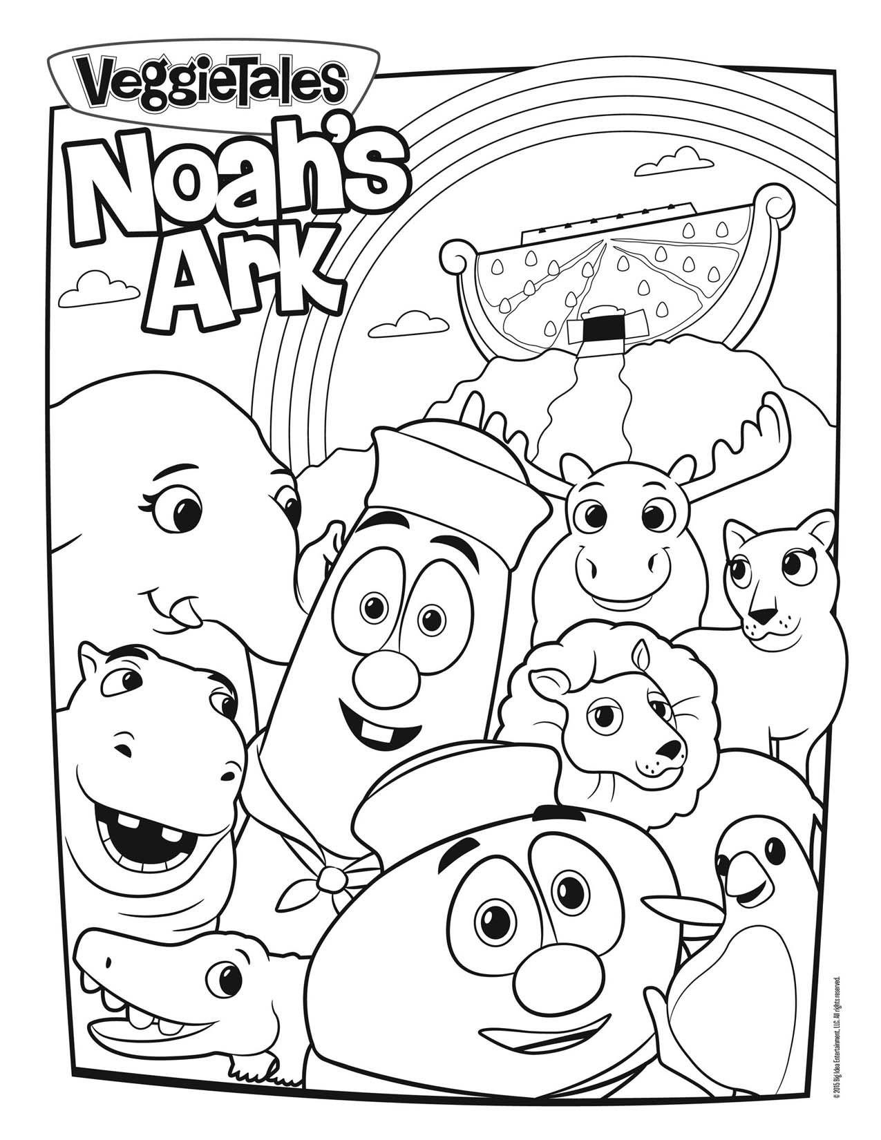 Veggietales Noah S Ark Coloring Page