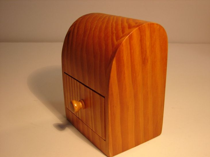 us Trinket Box Hand Carved Wood Pen Caddy with Drawer