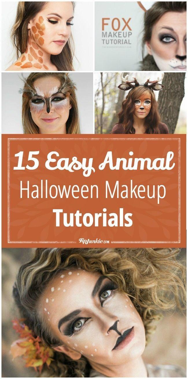 Easy Animal Halloween Makeup Tutorials Tip Junkie Halloween