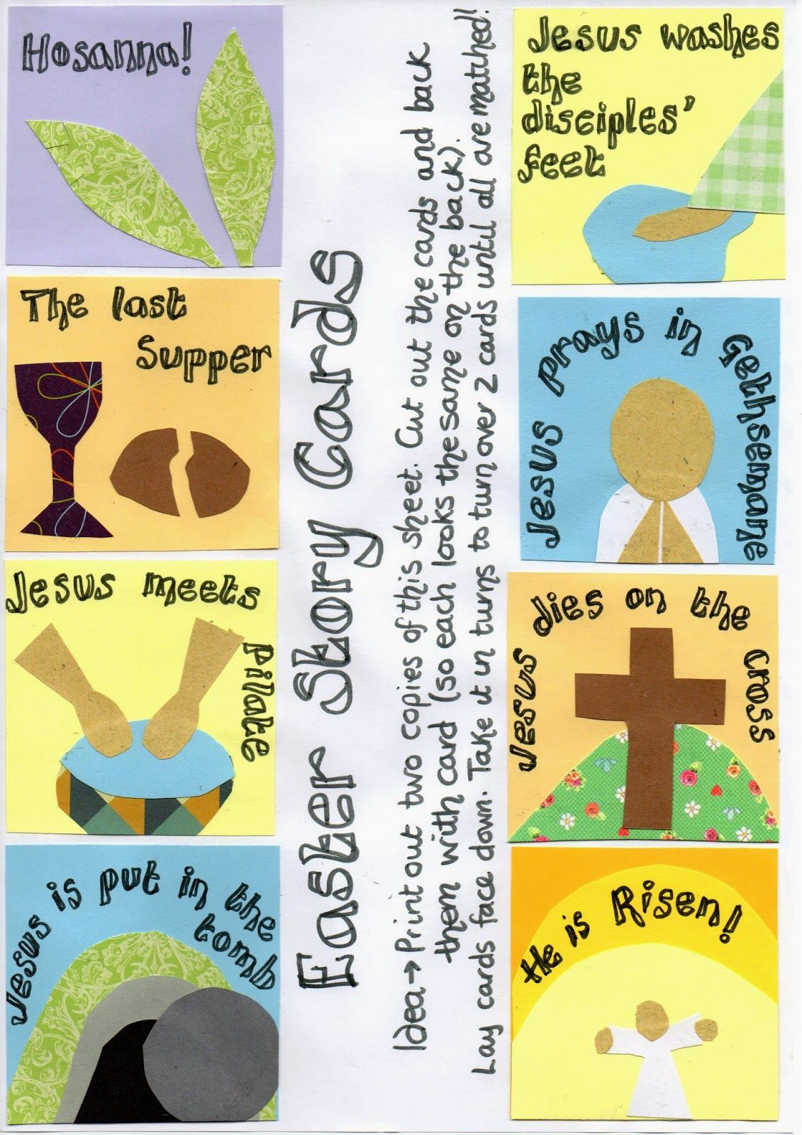Easter Story Picture Card Games Print Out And Play