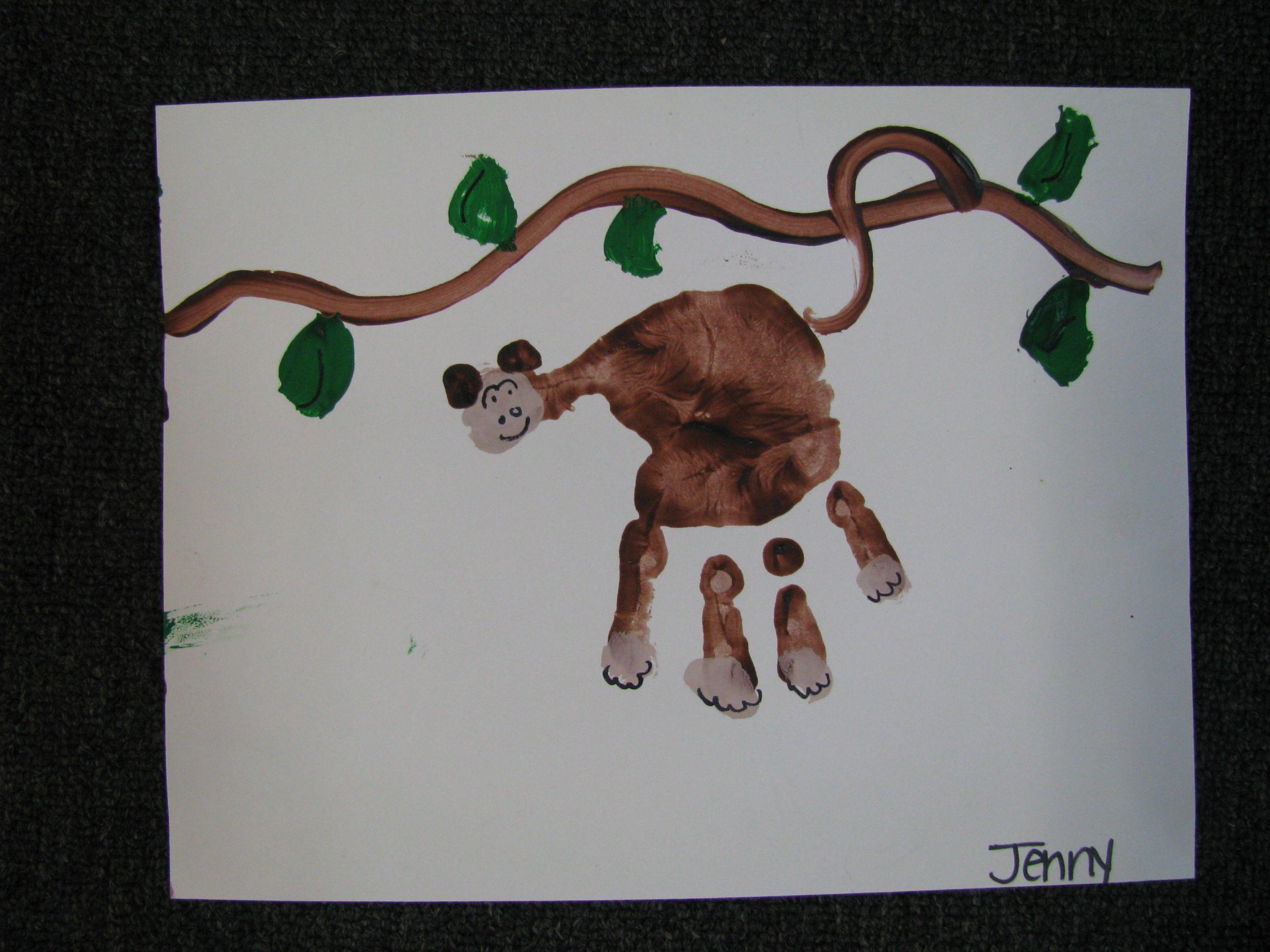 Preschool Monkey Craft