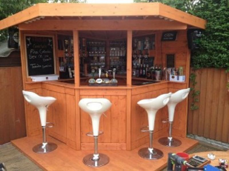 DELUXE 7ft Corner bar, Garden bar, Entertainment area *UK ... on Garden Entertainment Area Ideas id=57274