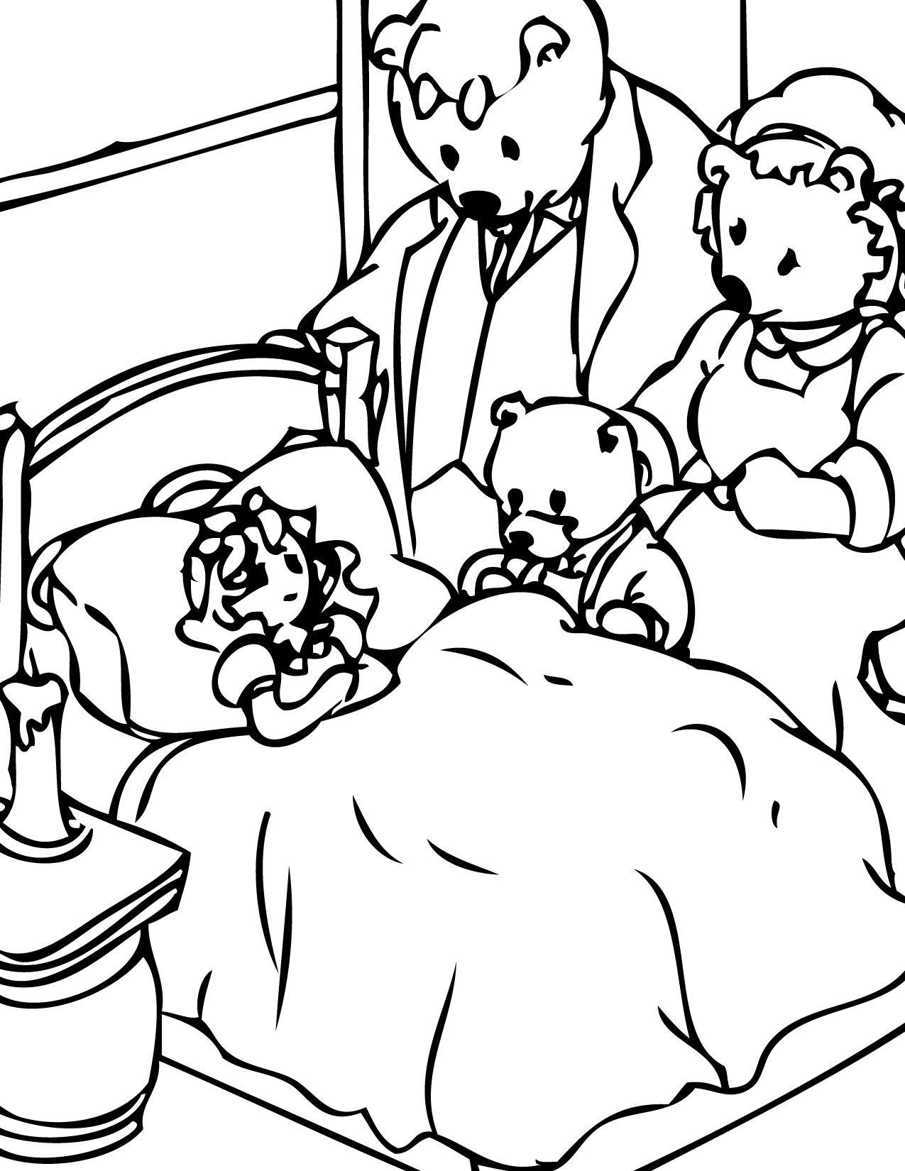 Free Printable Coloring Pages Goldilocks Three Bears