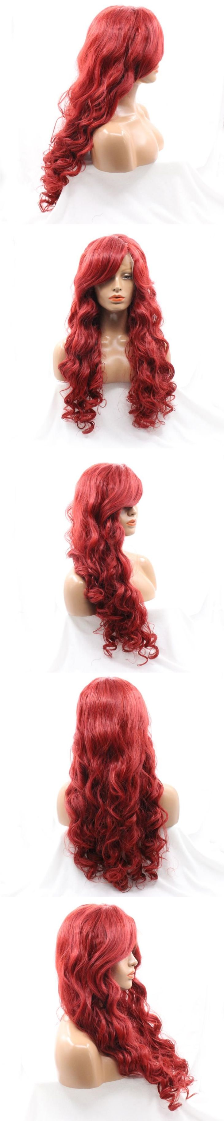 Real Japanese Fiber Loose Curly Synthetic Lace Front Wigs