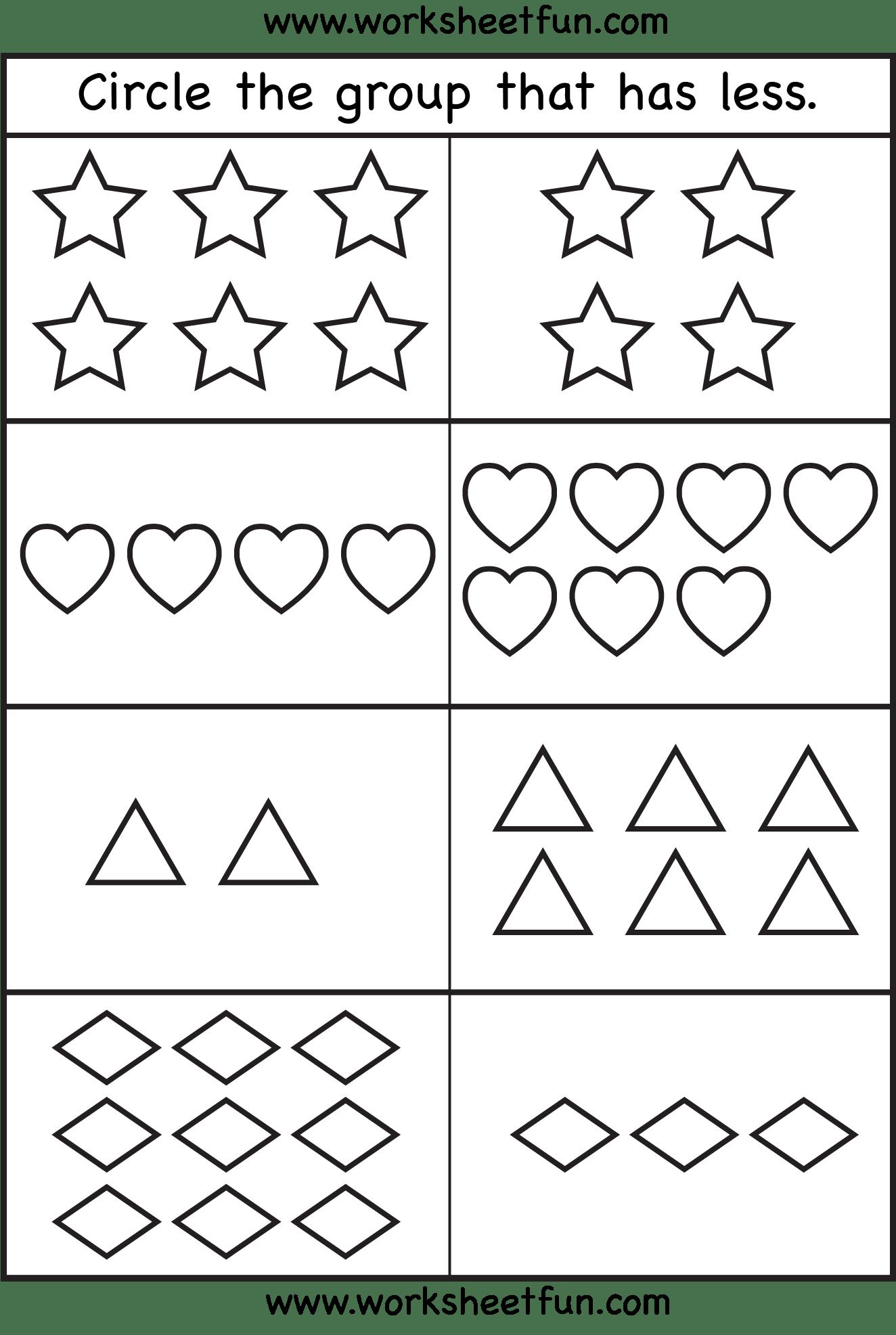 Kindergarten Worksheet Cut Paste Size Comparison