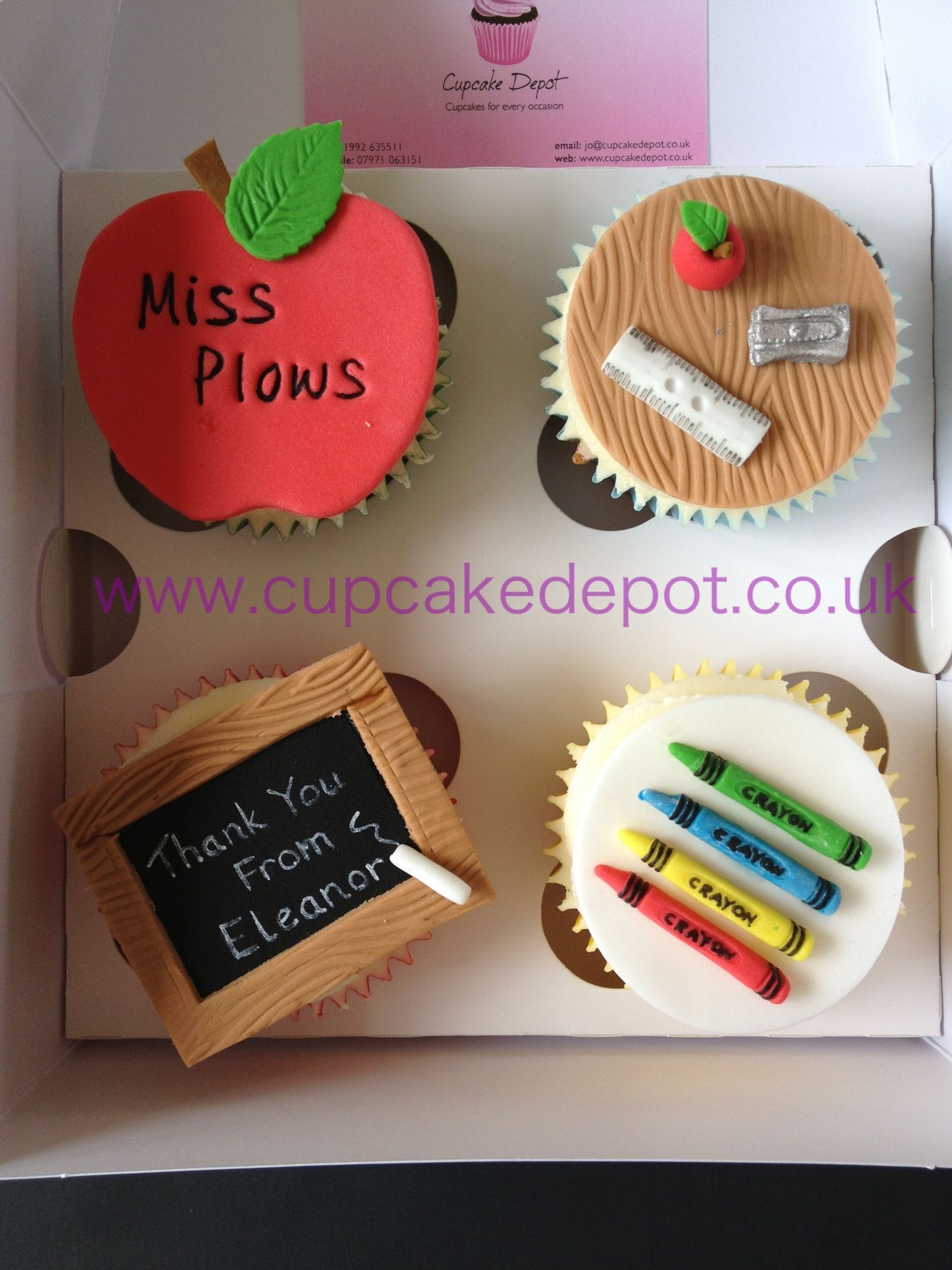 Teacher S Thank You Cupcakes