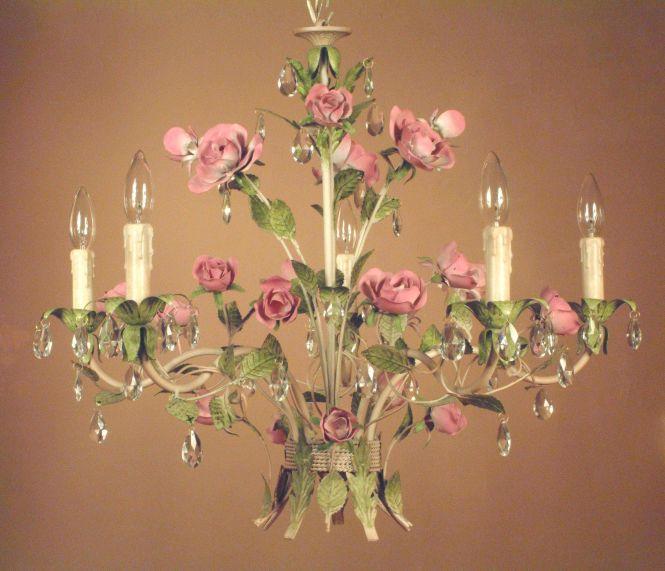 Amazing Shabby Chic Table Lamp Lighting Crystal Craft Decoration Paris