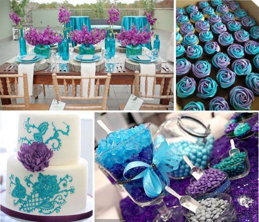Image result for lavender and teal green wedding