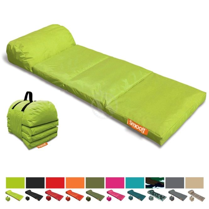 Outdoor Portable Mattress Smooff Lounge Cushy Y Lime Green