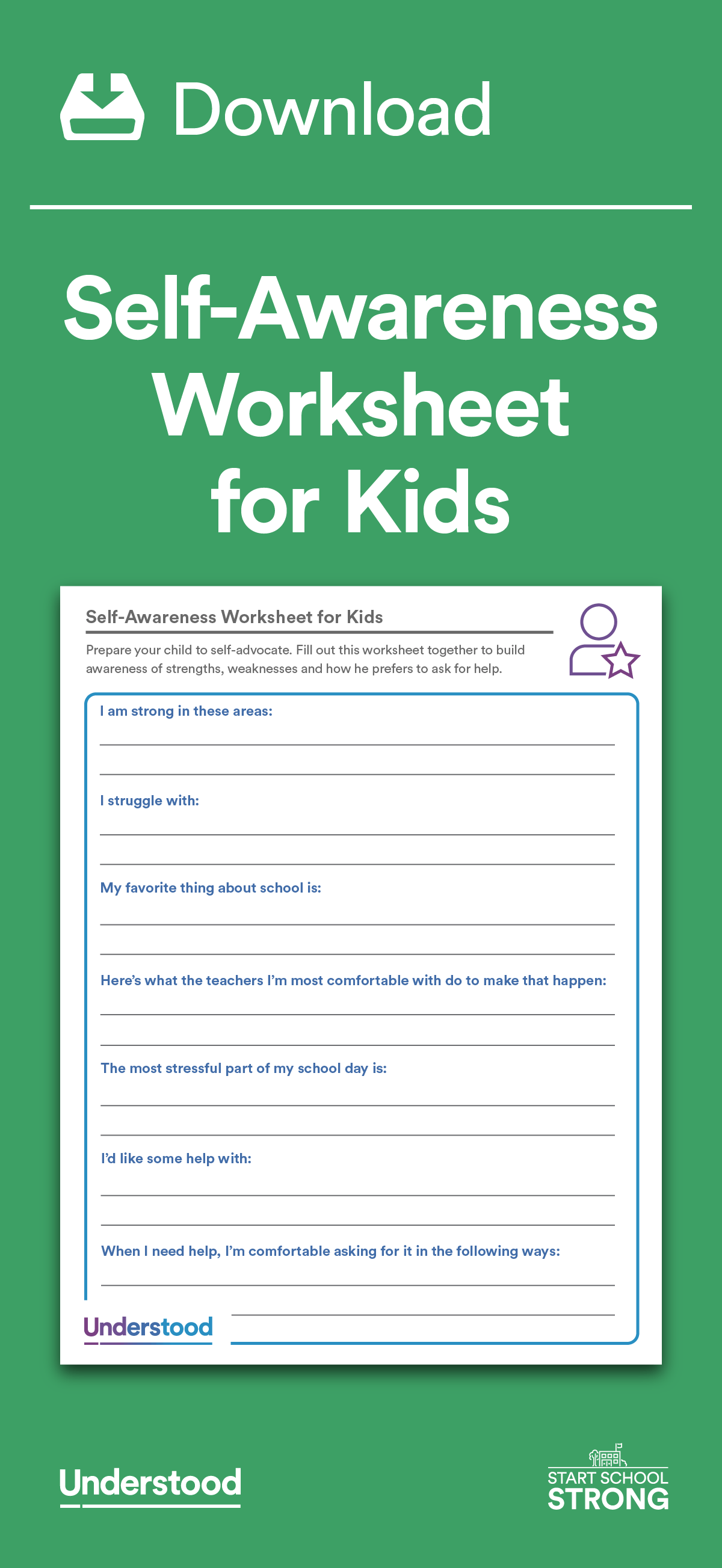 Download Self Awareness Worksheets For Kids