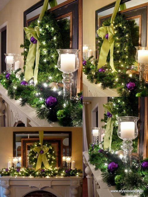 A Whole Bunch Of Christmas Mantel Decorating Ideas   Holiday Decor     Decoration      A Whole Bunch Of Christmas Mantel Decorating Ideas