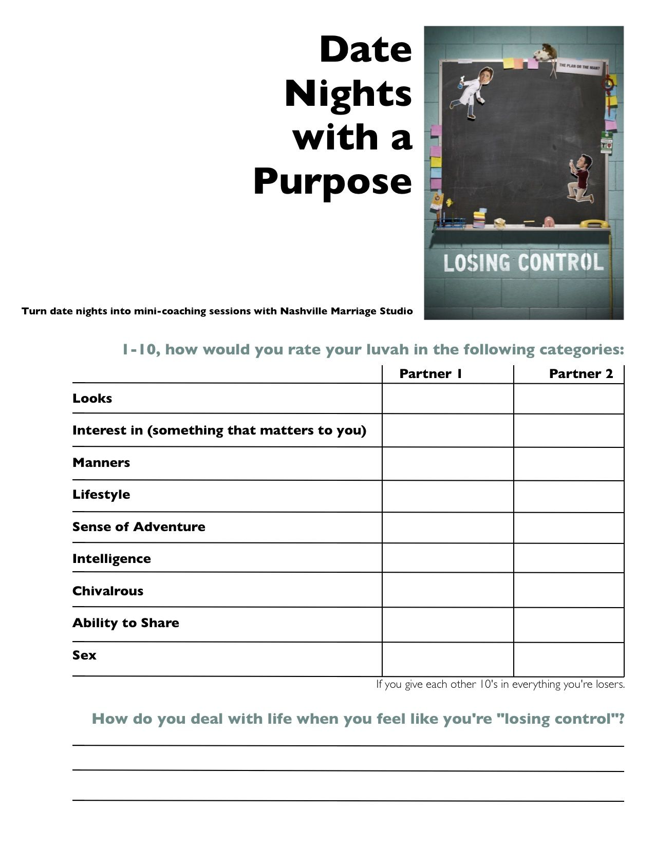 Pre Marriage Counseling Worksheets