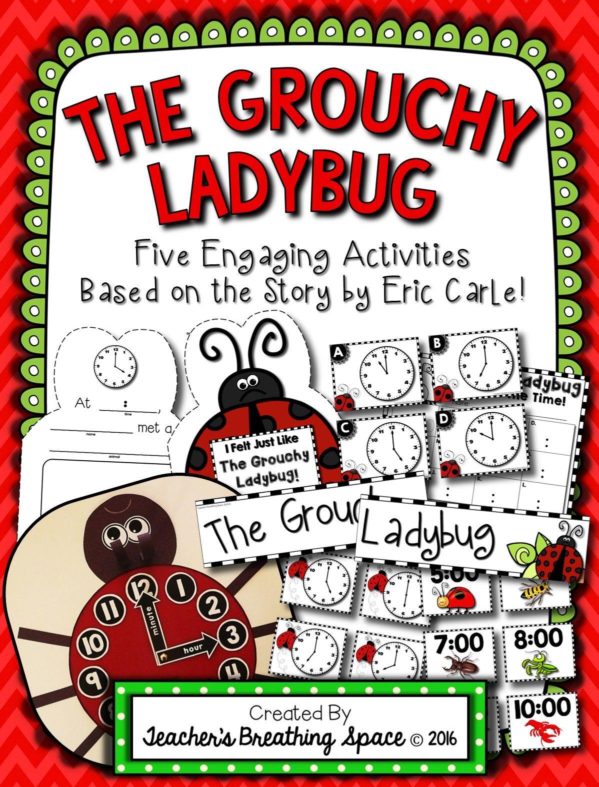 Grouchy Ladybug Clock Craftivity Bingo Write The Room And More