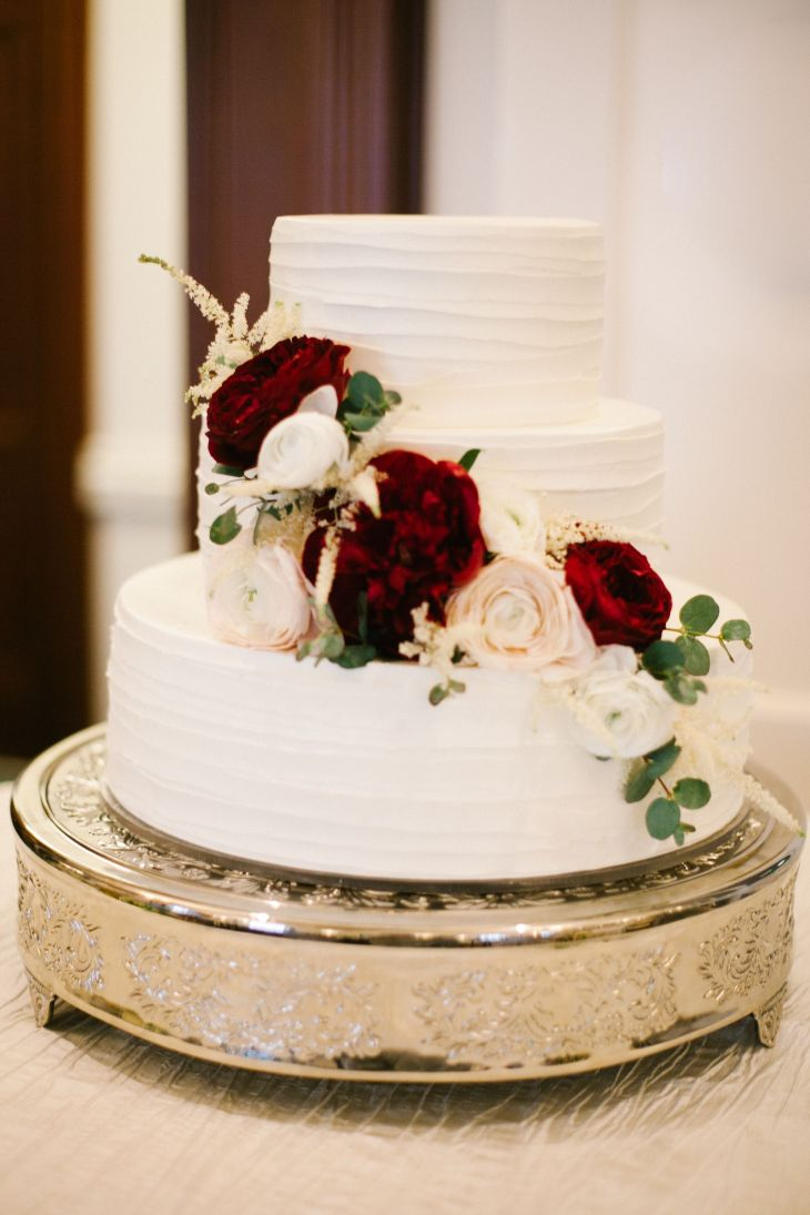 Pinterest alexramey Wedding cake with flowers Marsala and blush