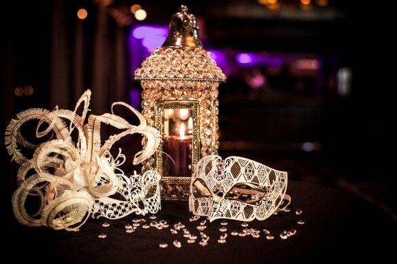 Bright Pink & Sparkly Shoes + A Masquerade Ball Wedding At