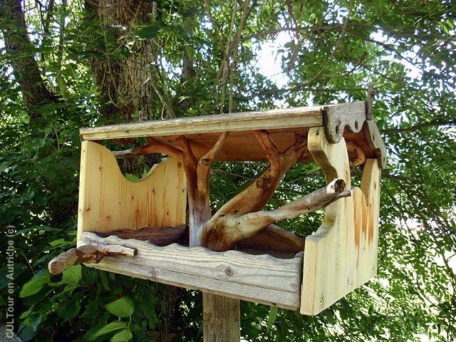 Mangeoire Ouverte Pour Les Oiseaux Oiseaux Au Jardin