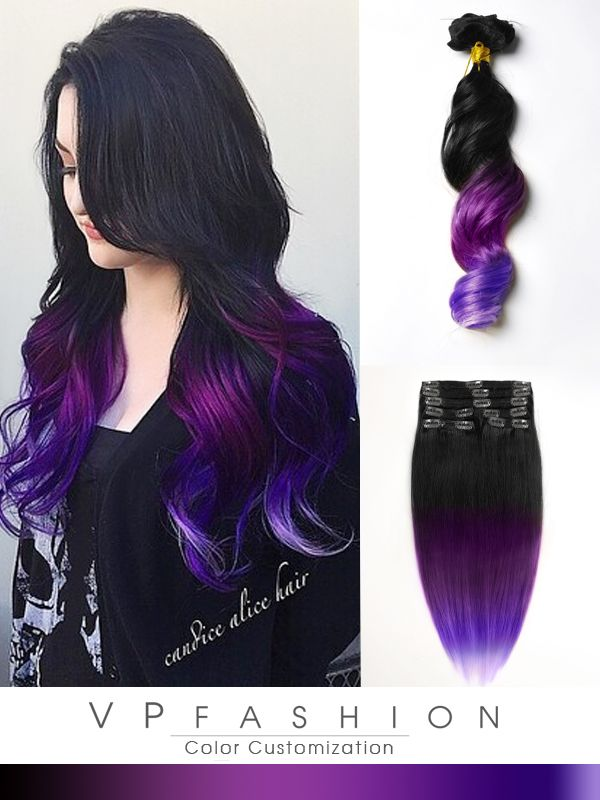 Best 25 Purple Hair Extensions Ideas On Pinterest