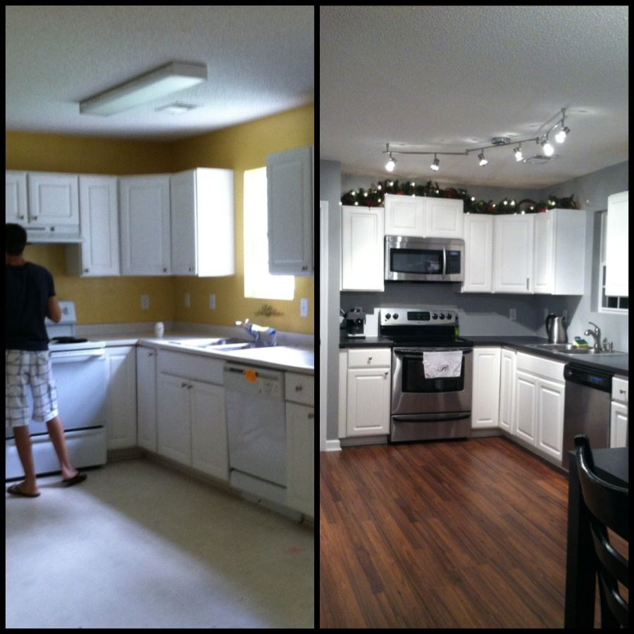 Small Kitchen Remodel Before And After on Pinterest ... on Small Kitchen Renovation Ideas  id=48643