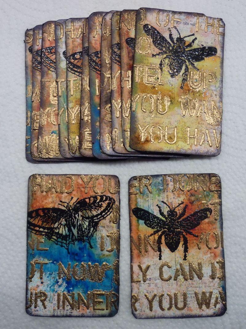 Altered playing card tutorial art gelatos pinterest