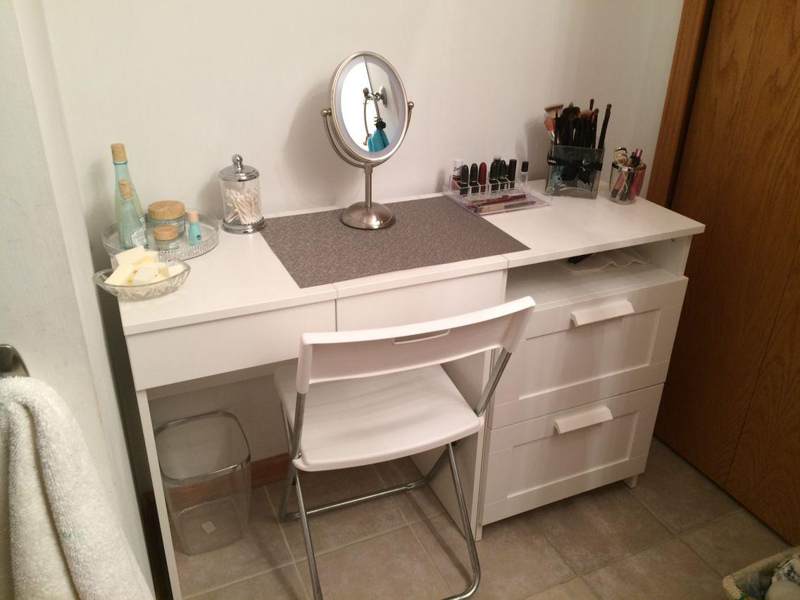 Best My Diy Make Up Vanity Using Ikea Brimne Dressing