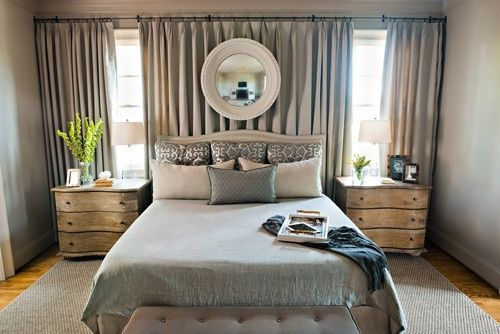 Curtains Behind Bed On Pinterest