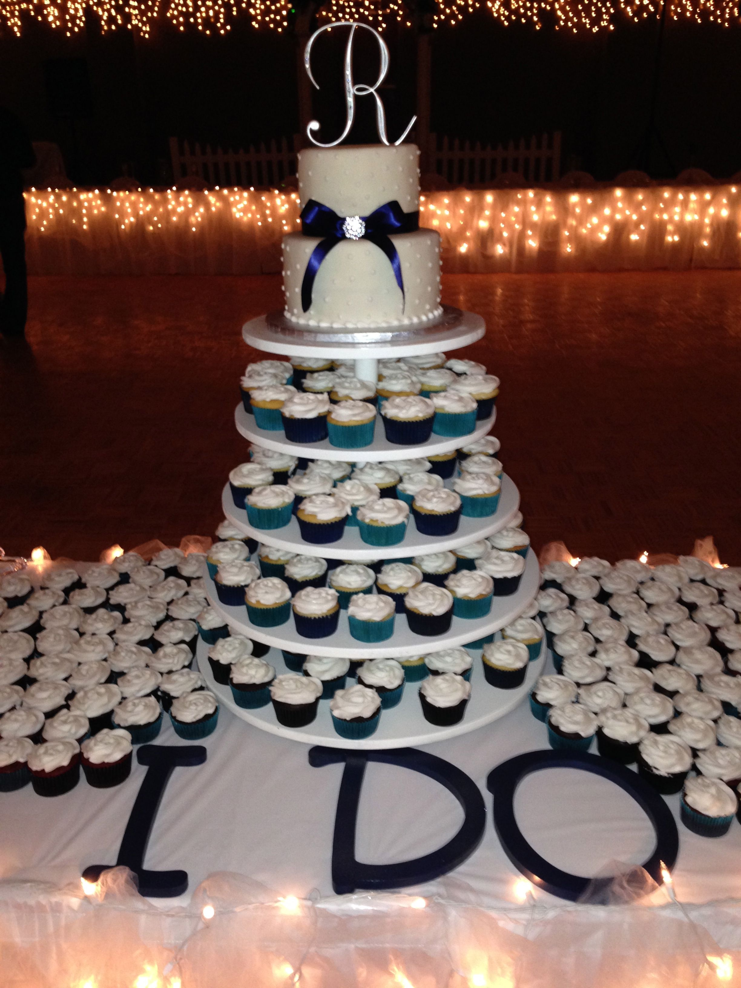 Wedding Cake Cupcake Tower