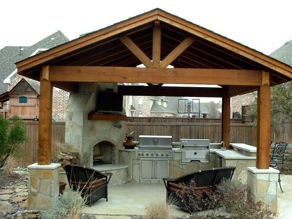 outdoor kitchen covered patio Amazing Outdoor Kitchens Part 3 | Google images, Patios