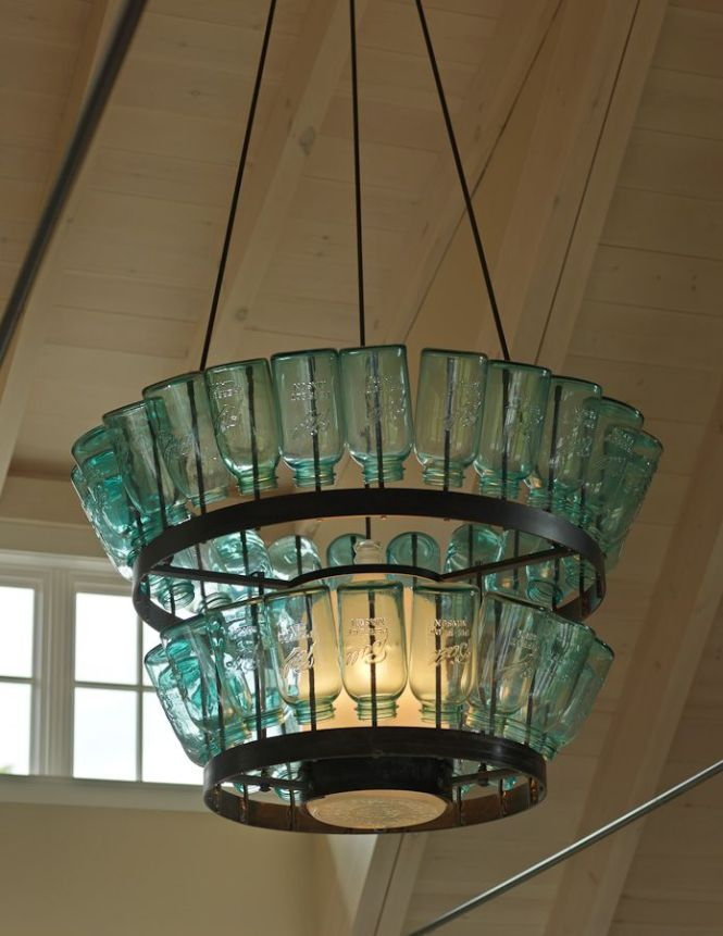 House Of Turquoise The Cushman Design Group Beautiful Chandelier Made With Mason Jars