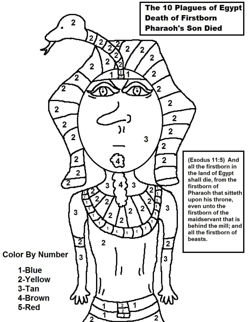 the 10 plagues of egypt death of firstborn colornumber