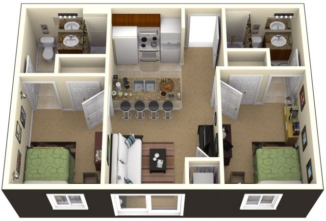 simple 2 bedroom cabin plans - bedroom style ideas