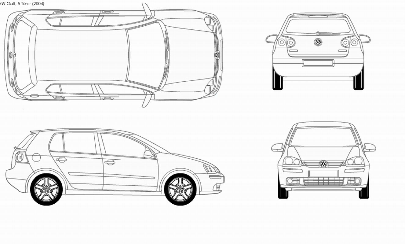 Golf 5 4 Doors 518 Model Sheet