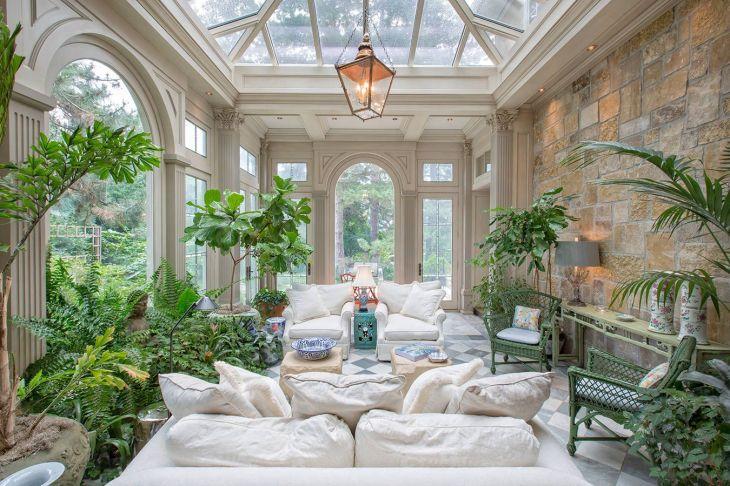 Traditional Sunroom Blends Indoor u Outdoor Greenery Omaha NE