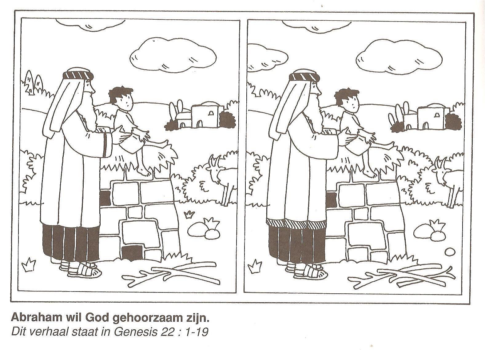 Abraham Wil God Gehoorzaam Zijn Offer Isaak Zoek De 10 Verschillen