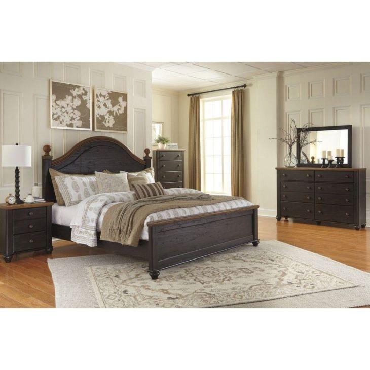 Ashley Furniture Maxington Poster Panel Bedroom Set in BlackReddish
