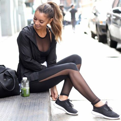 These mesh leggings are great for gym outfits!
