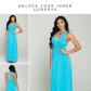Glimpse of glamour turquoise blue halter maxi dress blue maxi