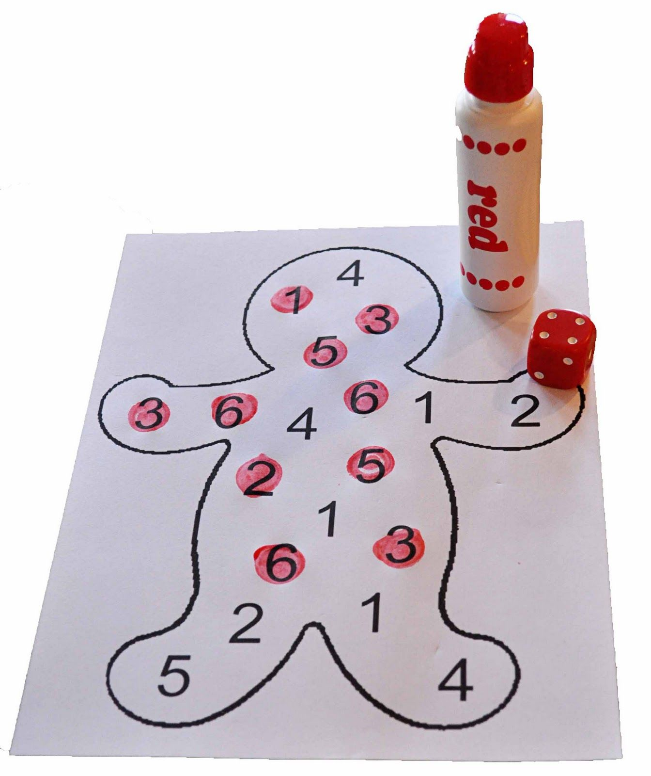 Children S Learning Activities Gingerbread Number Identification Goes With Smart Board Dice
