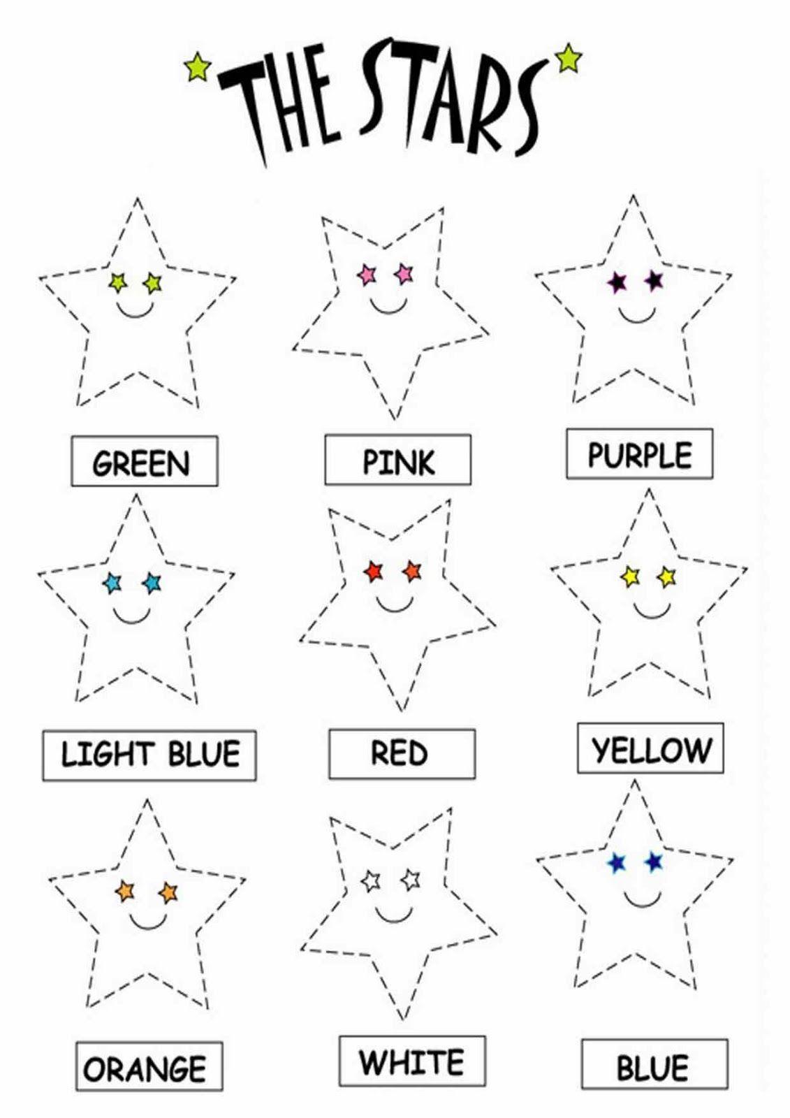 Number Stars Worksheet