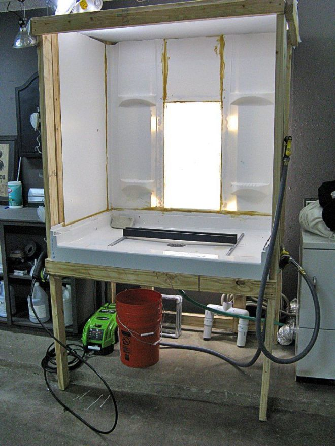Diy washout booth maker space pinterest screens